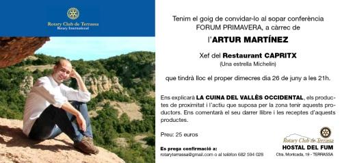 INVITACIO ROTARY ARTUR