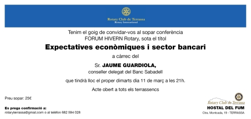INVITACIO JAUME GUARDIOLA