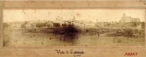 imatge antiga de Terrassa 1870 original