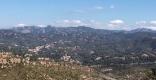 panoramica serra de sant llorenç i l'obac